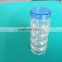 plastic jars in stackable