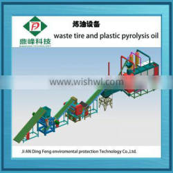 Hot sale dingfeng brand pyrolysis tires to furnace oil with ISO