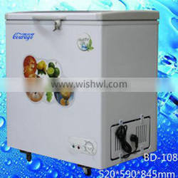 BD-108 Energy-saving technologies mini chest freezer flash freezer