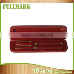 Wooden professional simple style refined pen case