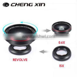 Chengxin New 2 in 1 phone lens kits, 0.6X wide angle , macro Camera lens for htc,for iphone