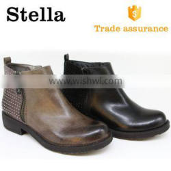 China Factory custom youth fashion tan kitten heels ankle boots