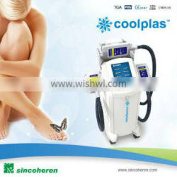 Sincoheren Coolplas cryotherapy cellulite reduction/lipolysis/fat freezing removal body slimming vacuum suction machine