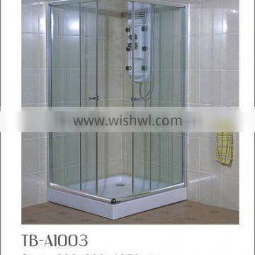simple glass cheap free standing shower enclosure