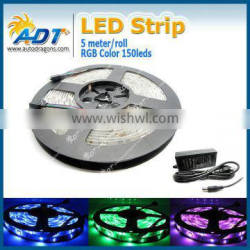 2016 Hot Waterproof 12V 5M flexible 5M 150 RGB 5050 led strip 300 leds rgb