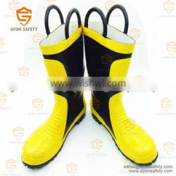 Fire fighter water proof heat resistant rubber boots-Ayonsafety