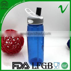 BPA free cylinder empty clear water 750ml PCTG bottle for drink