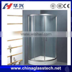 CE&CCC customized tempered frosted glass aluminium bathroom doors