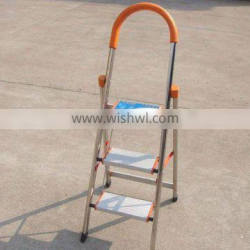 heavy duty hot sale aluminum 3 tier step ladder with handrail