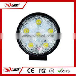 Best selling commercial led light flood beam round 18W led work light for utv use