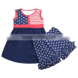 Lovely Baby Boy July 4th Patriotic Cheap Cotton Outfit American Girls Holiday Wear Summer Clothing Set July 4th Clothes Set