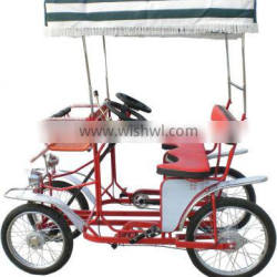 two and four person rider surrey cycle surrey cycle caravan bicycle