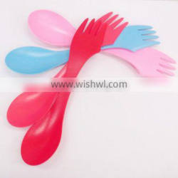 eco-friendly plastic spork for outdoor camping