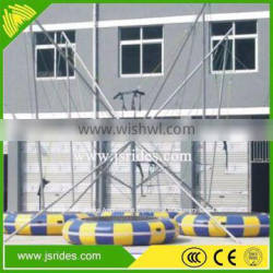 Fitness bungee mini trampoline for amusement
