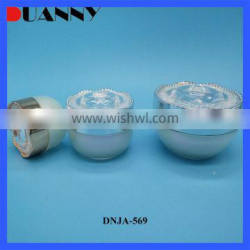 High Quality Customized Empty Double Wall Plastic Cosmetic Cream Jar With Lid