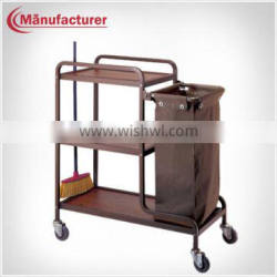 Hospital Luggage Clean Linen Service Maid Carts/ Medical Laundry Handle Trolley