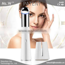 2016 new wholesale chargeable ionic ultrasonic electric facial massager machine/eye wrinkle care massager