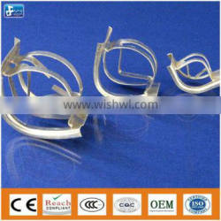 Stainless steel metal saddle ring for mass separation/acid gas removal