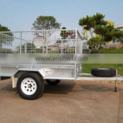 China supplier hot dipped galvanized cage box trailer