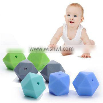 Chewable Silicone Pendant Funny Kids Beads Teething Silicone Beads For Chewing