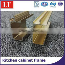 Aluminum furniture cupboard frame extruded profile
