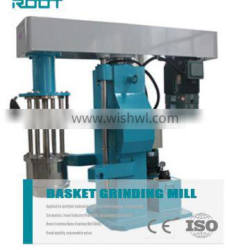 Hydraulic lifting basket sand mill for printing ink with belt clamp