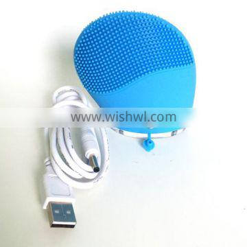 Super Soft Silicone High Quality USB Rechargable Silicone Skin Care Facial Brush