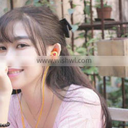 Yellow free sample necklace earphone for xiaomi