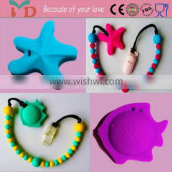 Silicone teething silicone nursing mom and baby pendant