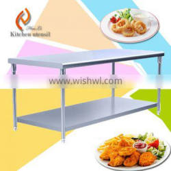 1.2M middle sizes heavy loading food storage commercial stainelss steel kichen work bench table for restaurant