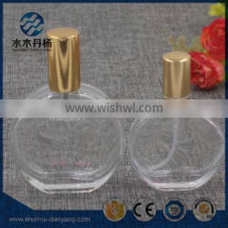 Hot selling 50ml/30ml clear flat perfume glass bottle Supplier's Choice