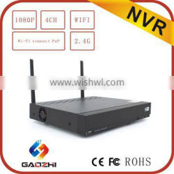 1080P 4CH Wireless WIFI NVR Support motion detection