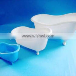 New deaign container for bathtub products, plastic mini bathtub, plastic gift container