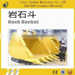 Iso9001 Certificated Heavy Duty Rock Bucket For Excavator