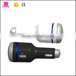 Exclusive license in China LED +Harmmer head USB fast car mount charger for phone