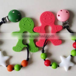 BPA Free Silicone Pacifier Chain And Clip Unique Baby Pacifiers