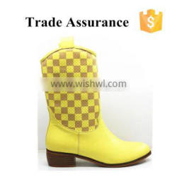 Stock yellow color Snow Boots