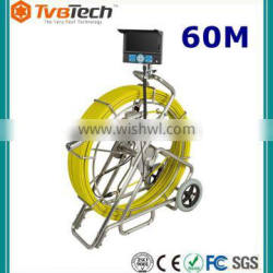 Water Pipe Leak Detection Inspection Camera With 120M Cable Wheel&38MM Shelf-leveling Camera