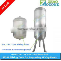 stainless steel storage tank used with gas liquid mixing pump