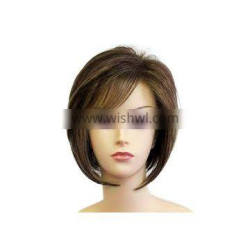 Cuticle Aligned 16 Inches Brazilian Full Head Full Lace Human Hair Wigs 100g