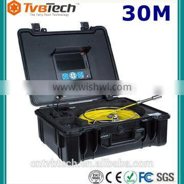 TvbTech 7'' TFT LCD Pipe Inspection Camera With 20/30/40M Cable Borescope Endoscope
