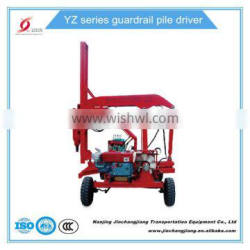 Highway Guardrail Hydraulic piledriver pile drilling pile driver Piling machine hammer for fence posts