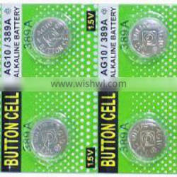 Factory price Mercury-Free Environmental AG10 SR1130 Alkaline button cell counter battery
