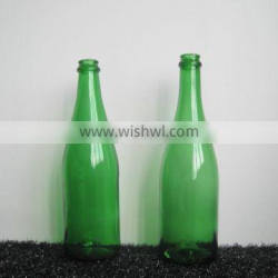 EMPTY GLASS BOTTLE FOR CHAMPAGNE GREEN
