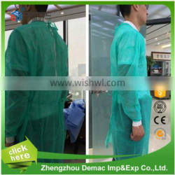 Green disposable protective waterproof surgical gown