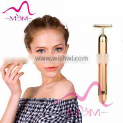 High Quality vibrating home use device Personal Care Face Lift 24k Gold Beauty Bar