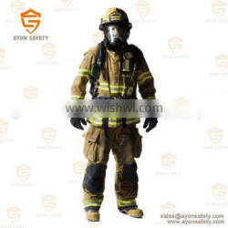 PBI yellow safety Water proof protective clothing with multy-layers Aramid material EN 469 standard-Ayonsafety