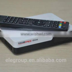 Tocomfree s929 FTA receiver with IKS SKS free IPTV system for South America