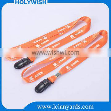 Fashional custom printed promotional polyester lanyard in China factory