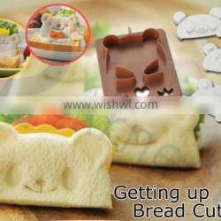 fun bread cutters decoration tool kitchenware bread maker getting up bread cutter stamps bear frog panda